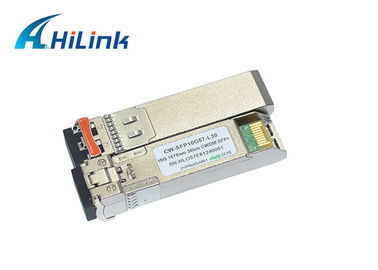 China 10G SFP+ Transceiver Module 1570nm 80Km CWDM SFP High Speed Transmission Network factory