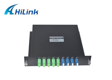 China Hilink Optical DWDM Mux Demux 2X4CH Dual Fiber LGX Type High Isolation New Condition distributor